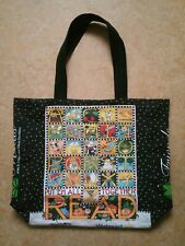 Mary Engelbreit Tote Book Grocery Bag Black Canvas Put 'Em All Together And Read