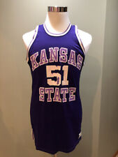 check out a5096 14aeb Team issued late 1970 s early 1980 s era Kansas State Wildcats Basketball  Jersey
