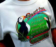 "Christian ""Do Not Fear"" Puffins White Tshirt Unisex X-Large Size - NICE!"