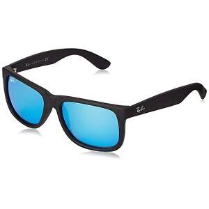 Ray-Ban Justin Classic RB4165 622/55 54mm Matte Black Blue Mirror