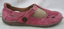 Earth Origins Pink Suede Shoes Womens 8.5 M Swirl Mary Jane 2014S Pristine $7 SH