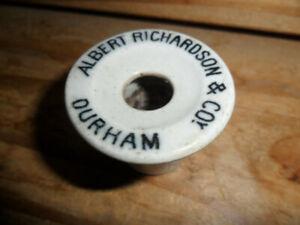 Vintage School Desk Ceramic inkwell insert Albert Richardson & Co Durham