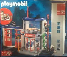 Playmobil Feuerwehrstation 4819 mit Original Karton + Zusatztor 7465