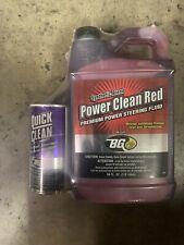BG Power Steering Fluid (Red) + BG 108 Quick Clean Case (4 Kits per Case)