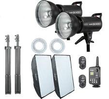800W Godox 2x SK400 400w Studio Strobe Flash Light Softbox Trigger Kit F Wedding