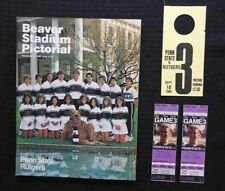 SEPT 8 1982 PENN STATE LIONS vs RUTGERS FOOTBALL PROGRAM + 2 FULL GAME TICKETS