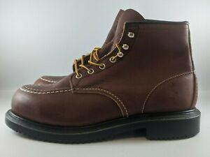 Red Wing Mens 6 Inch Steel Toe Long Wear Work Boots Size 10 EEE Brown 8249