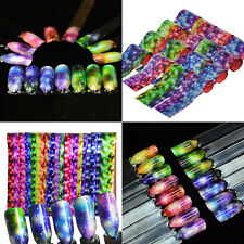 5 x Strips Holographic Galaxy Starry Sky Gradient Nail Art Decoration Tape Foils