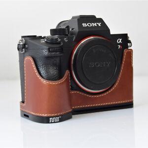 Camera Genuine Leather Half Case Cover Bottom Case for Sony A9 A7RIII A7R3