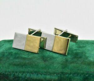 Vintage Sterling Silver Cufflinks Art Deco 9ct Check Peaky Blinders Gift #L239