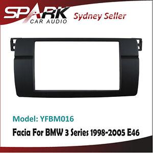 Double 2 DIN Facia Kit Panel Fascia Dash Plate For BMW 3 Series E46 1998-2005 CT