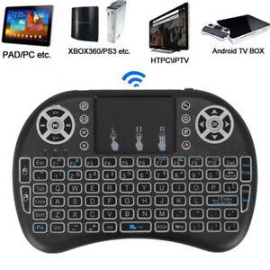 2.4GHz i8 Mini Funk Kabellos Tastatur Touchpad Wireless Keyboard Backlit DHL DE