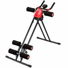 TecTake 402408 Appareil de Fitness, de Musculation à Abdominaux Pliable - Noir/Rouge, 100 x 54 x 92cm