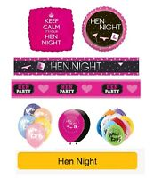 HEN NIGHT / HEN PARTY Party Banners, Balloons, Decorations, Foil Balloons.