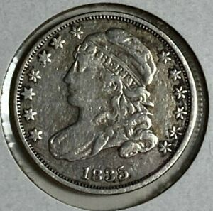 1835 Very Fine VF Capped Bust Silver US Dime 10C