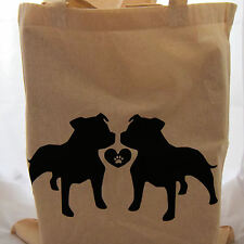 Tote Bag for dog staffordshire bull terrier lovers ideal fun gift birthday