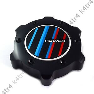 BLACK ALUMINUM ANODIZED OIL FILLER CAP COVER FITS BMW 3 4 5 6 7 SERIES POWER