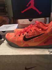 Nike Kobe Bryant IX 9 Elite Low TB Orange Size 12 Promo Sample Peach Jam Team
