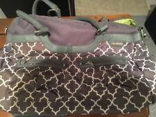 JJ Cole Satchel Diaper Bag Stone Arbor Gray w/ Stroller Strap & Change Pad