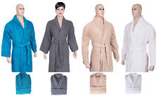 UNISEX SHAWL COLLAR BATHROBES SOFT COTTON TERRY TOWELING DRESSING GOWN BEST GIFT