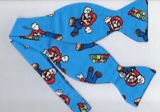 Super Mario Bow tie / Super Mario on Blue / Mario Brothers / Self-tie Bow tie