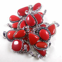 Coral Wholesale Lot Silver Plated 10Pcs Pendant Gemstone Jewelry