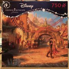 Disney Thomas Kinkade Rapunzel Dancing in the Sunlit Courtyard 750 Pc Puzzle New