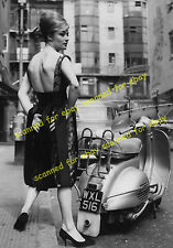 Photo - Vespa scooter & model, New Cavendish Street, London, May 1960