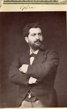 Paris, Opéra. Ténor Gailhard  Vintage print.   Photoglyptie  8,5x12,5  Cir