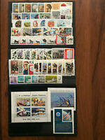 POLAND 1980-1989 COMPLETE-YEAR-SET-ALL-STAMPS-AND-SOUVENIR-SHEETS-BASIC MNH