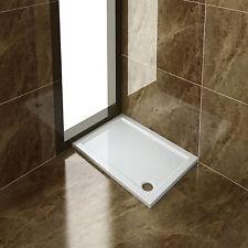 Rechteckig Duschwanne 110x80x4cm Acrylwanne für Duschkabine/Duschtür/Badezimmer