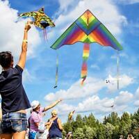 Regenbogen Dreieck Drachen Outdoor Kinder Fun Sports Kids Kinderspielzeug