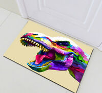 Home Bedroom Kitchen Doormat Rug Floor Carpet Bath Mat Abstract Dinosaur Head