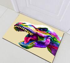Home Bedroom Kitchen Doormat Rug Floor Carpet Bath Mat Abstract Dinosaur Head