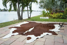 Rodeo Hereford Brazilian cowhides rugs cow skin large size approx  6x6-5x7 ft