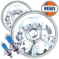 "7"" CRYSTAL GLASS Halogen Headlights Mazda MX5 Maita Eunos Roadster Headlamps"