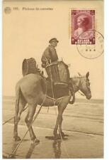 1937 Belgium semi-postal on postcard - Pecheur de crevettes