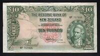 NEW ZEALAND P-161c.  (1967) 10 Pounds - Fleming.  No Thread..  Prefix 6F.. VF