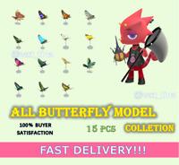 All Butterfly Model Set 15 Pcs  FASTEST!!!