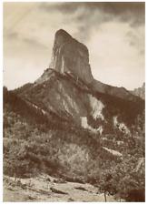France, Mont Aiguille dit Mont Inaccessible  Vintage citrate print Tirage citr