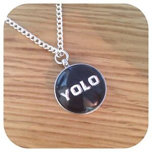 YOLO Charm pendant necklace Swag