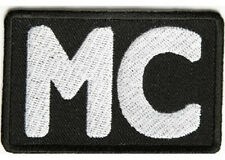 MC BIKER CLUB EMBROIDERED  PATCH
