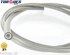 "AN -3 (JIC-3 1/8"" I.D) Stainless Braided Clear PVC Coated Teflon Brake Hose 1m"