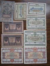 9x Russia Soviet Union CCCP 1 5 10 25 50 100 Rubles 1898 1909 1953 1955 1956