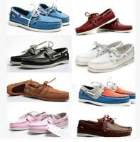 Mens Docksides deck Top-Side Lace Up Casaul Moccasin Leather Slip On Boat Shoes