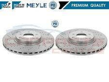FOR MERCEDES C CLASS W203 FRONT DRILLED BRAKE DISCS 330mm C-CLASS MEYLE GERMANY
