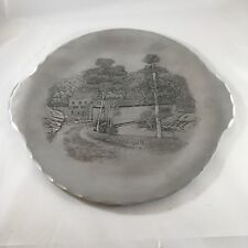 "Wendell August Forge Hand Hammered Aluminum Covered Bridge Round 11.25""  Plate"