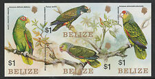 Belize (S85) 1984 Parrots $1 IMPERF block of 4 unmounted mint