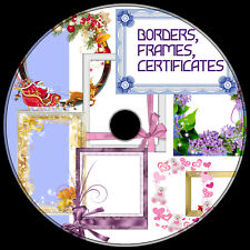 BORDERS, FRAMES, CERTIFICATES .png & vector 1000+ best clip art ROYALTY-FREE DVD
