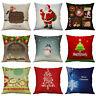Christmas Cover Cotton Claus Case Xmas Cushion Pillow 18'' Decor Home New Santa